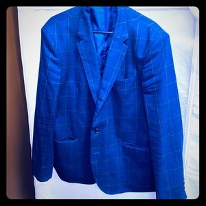 Men's Karl Lagerfeld Blue Window Sports Coat 46